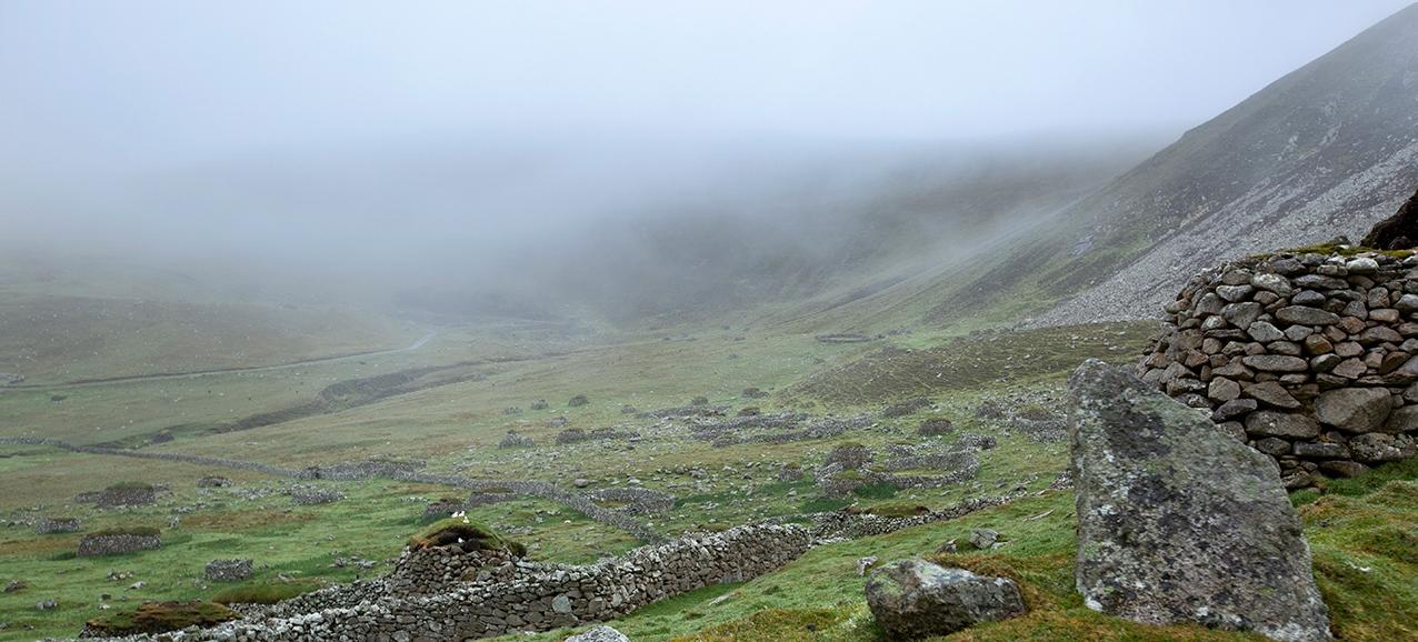 St Kilda Village in the mist