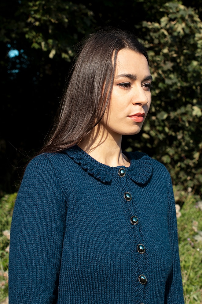 Petronella patterncard kit design by Alice Starmore in pure wool Bainin hand knitting yarn