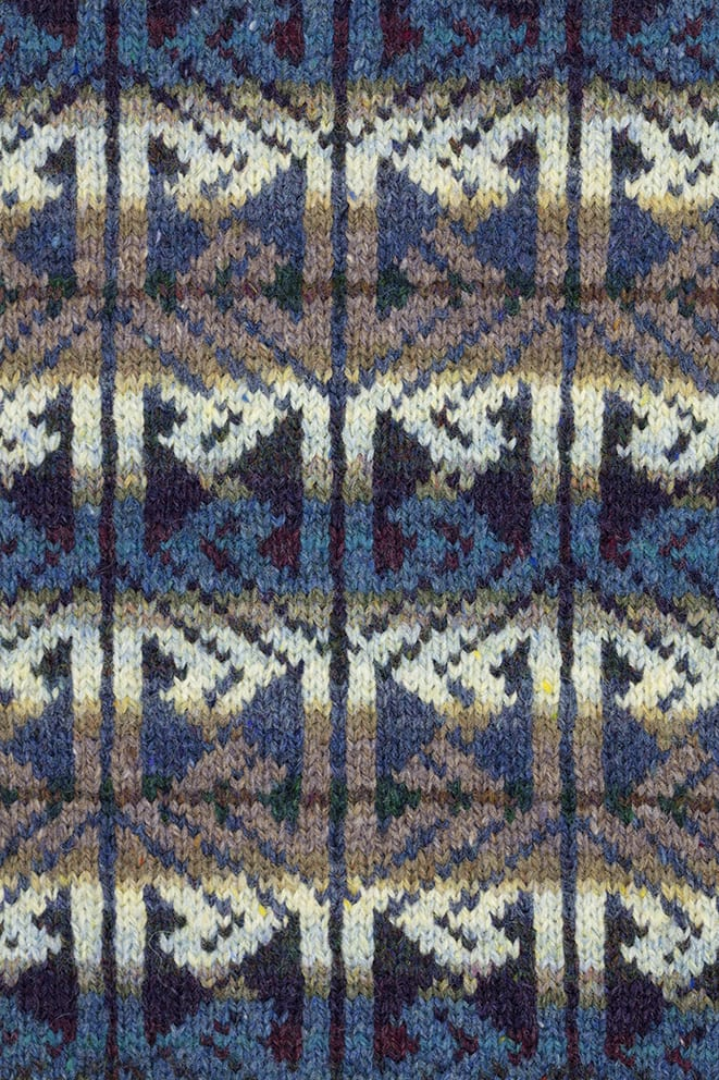 Alba patterncard knitwear design by Alice Starmore in pure wool Hebridean 2 Ply hand knitting yarn