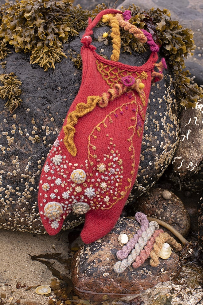 The Mermaid's Purse hand knitwear design by Alice Starmore