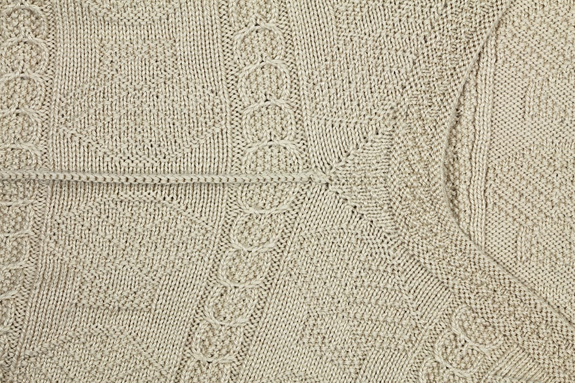 Cape Cod hand knitwear design from the book Fishermen's Sweaters by Alice Starmore