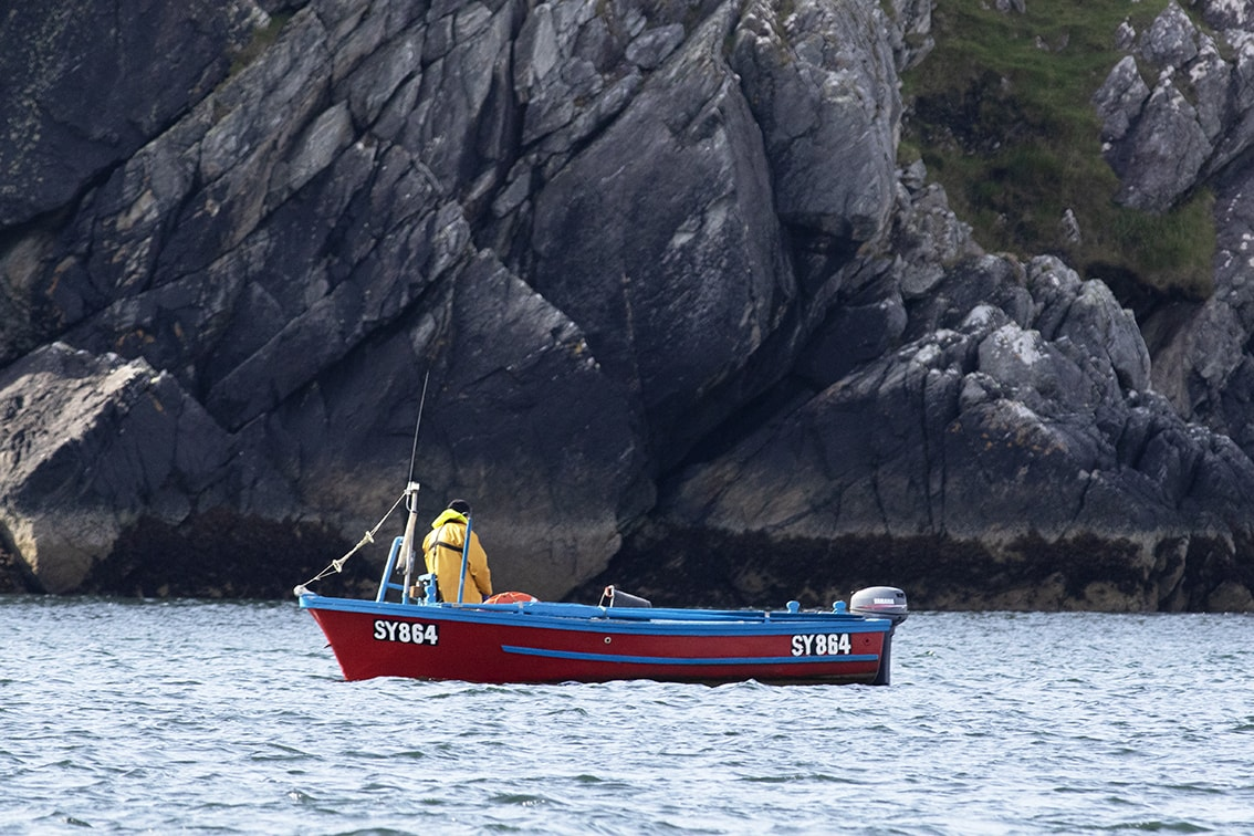 Small fishing boat off the Isle of Lewis