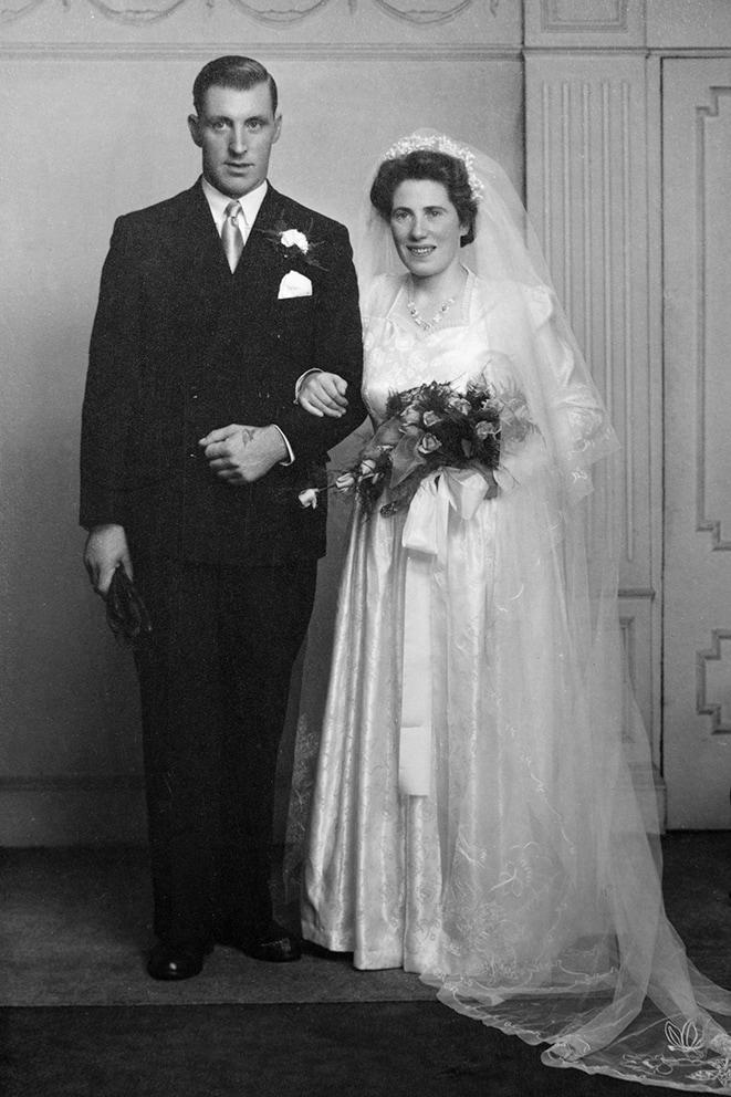 Alexanderina Matheson on her wedding day