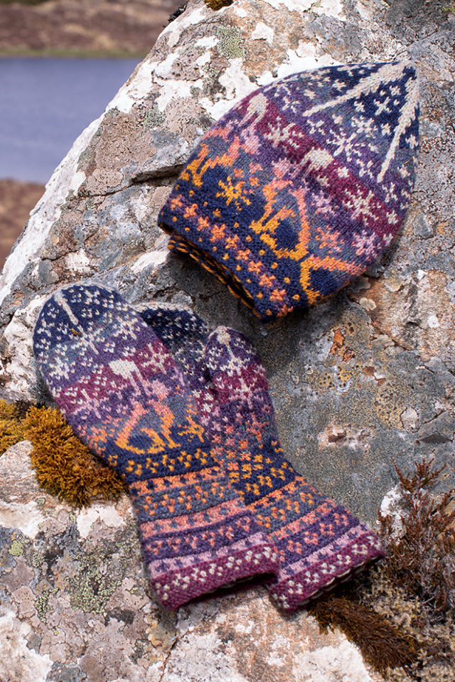 Witch Hare patterncard knitwear design by Alice & Jade Starmore in pure wool Hebridean 2 Ply hand knitting yarn