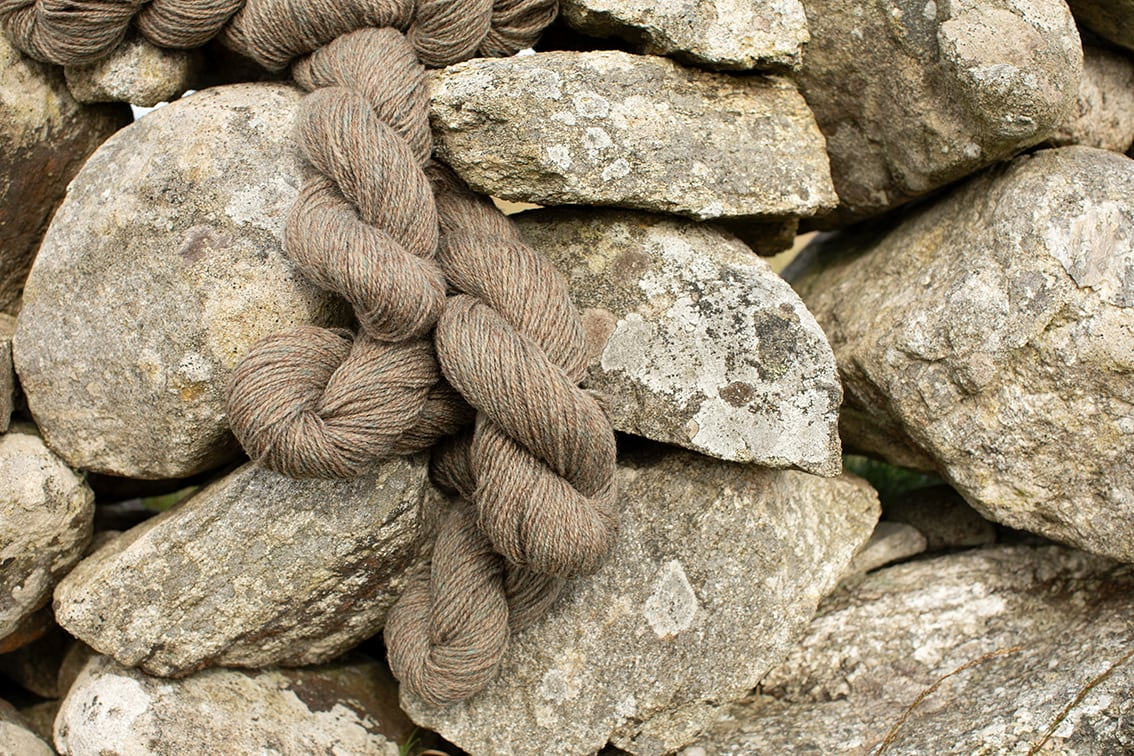 Alice Starmore Hebridean 2 Ply hand knitting yarn in special edition Hiort colour
