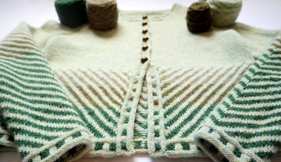 Traigh design by Jade Starmore, knitted by Constance Caddell