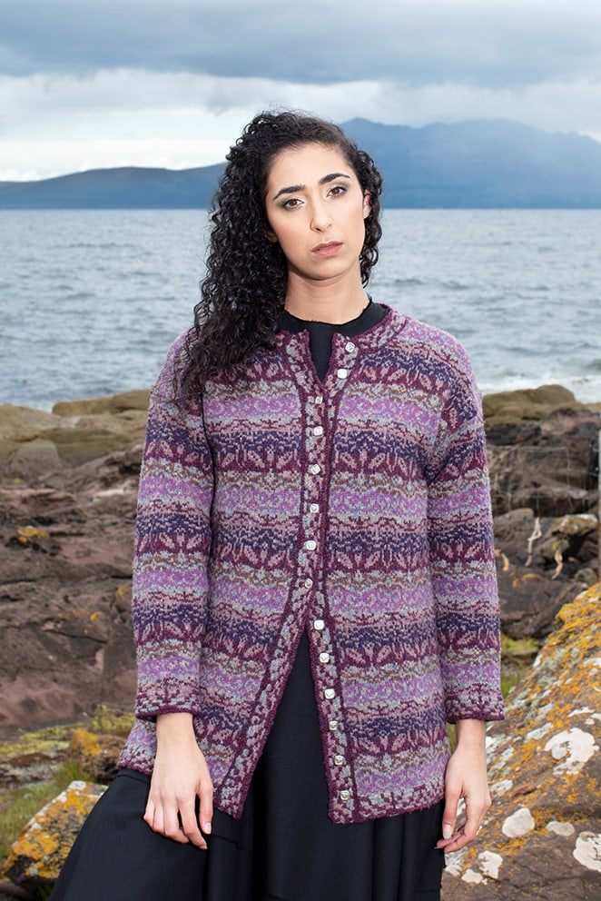 Zauderflote patterncard kit design by Jade Starmore in Hebridean yarn