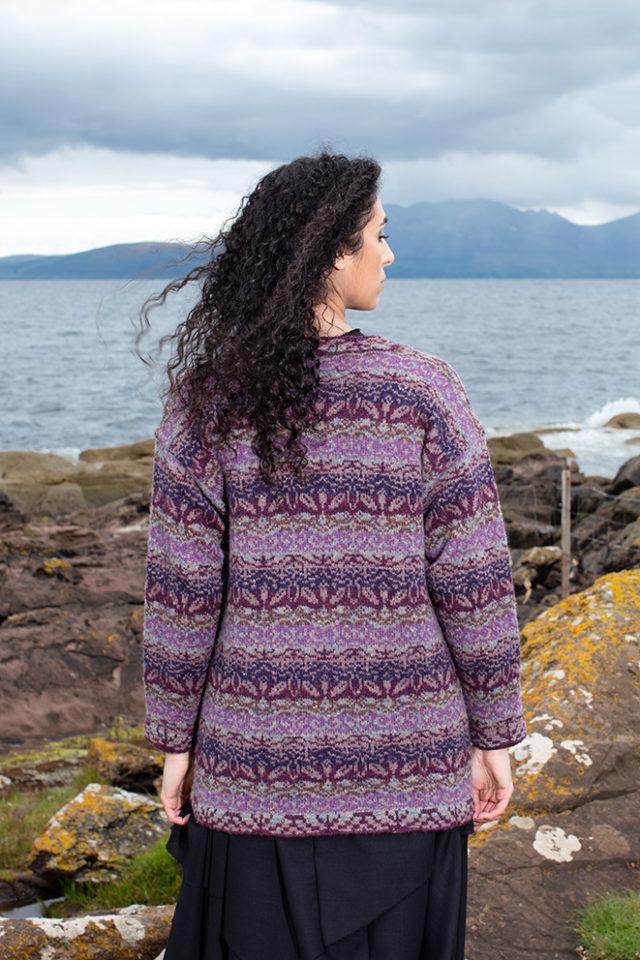 Zauderflote patterncard kit design by Jade Starmore in Hebridean yarn