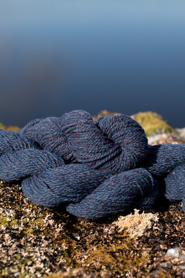Alice Starmore 2 Ply Hebridean hand knitting yarn in Storm Petrel