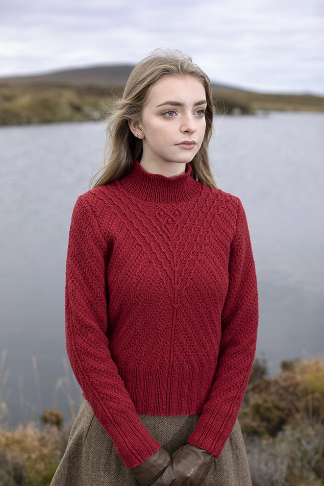 Staran patterncard kit design by Alice Starmore in Hebridean 3 Ply yarn