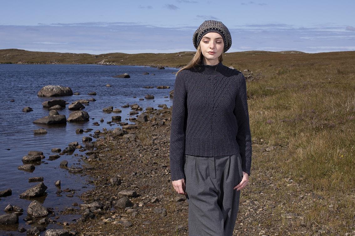 Staran patterncard kit design by Alice Starmore in Hebridean 3 Ply yarn