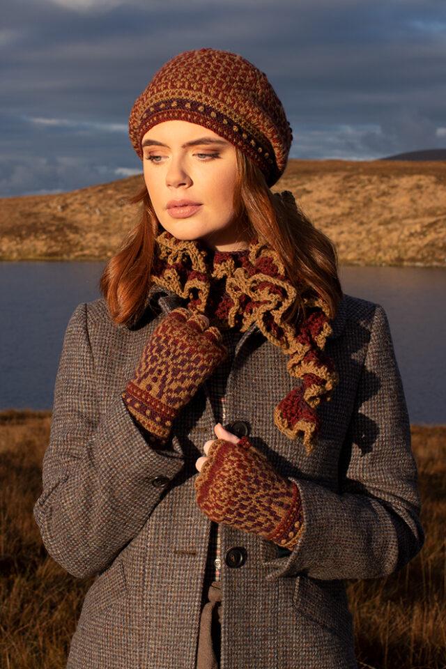 Briodag patterncard kit design by Alice Starmore in Hebridean 2 Ply yarn
