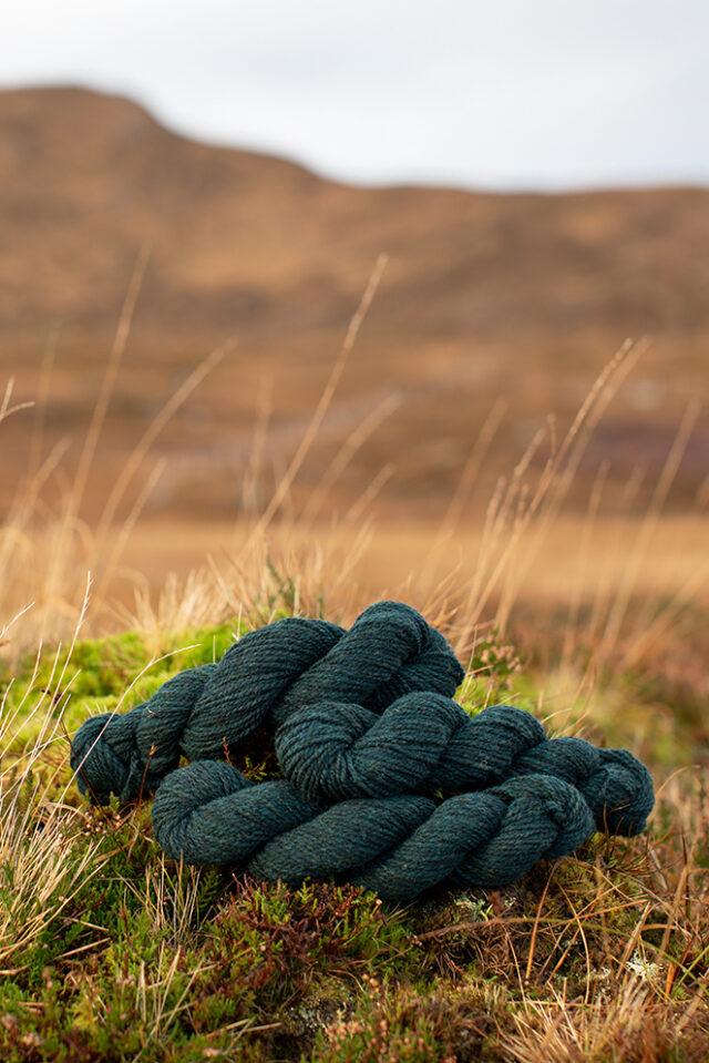 Alice Starmore 2 Ply Hebridean hand knitting yarn in Calluna