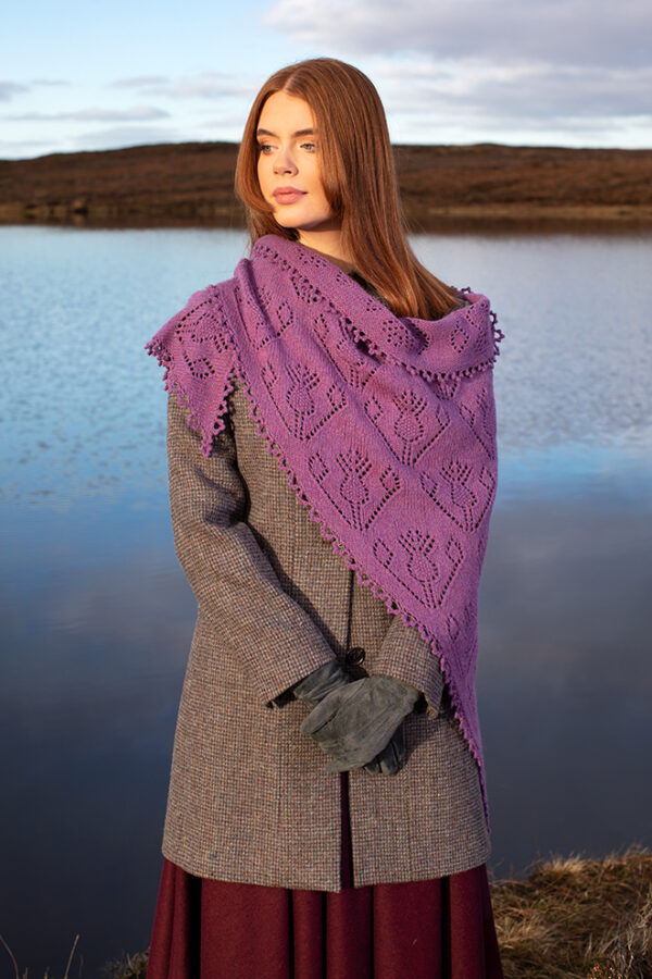 Cluaran patterncard kit design by Alice Starmore in Hebridean 2 Ply yarn