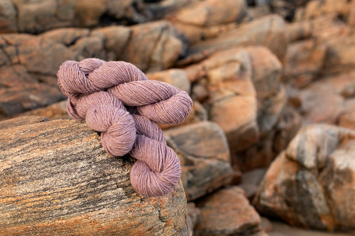Alice Starmore 3 Ply Hebridean hand knitting yarn in Driftwood