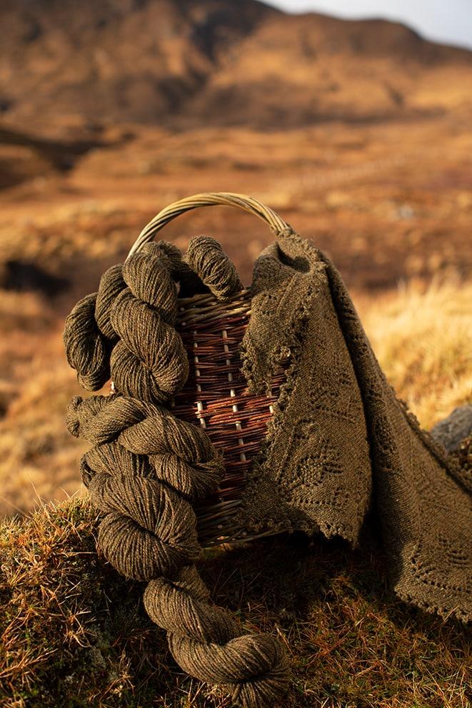 Alice Starmore 2 Ply Hebridean hand knitting yarn in Glen