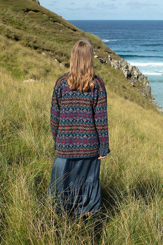 Marina patterncard kit design by Alice Starmore in Hebridean 2 Ply yarn