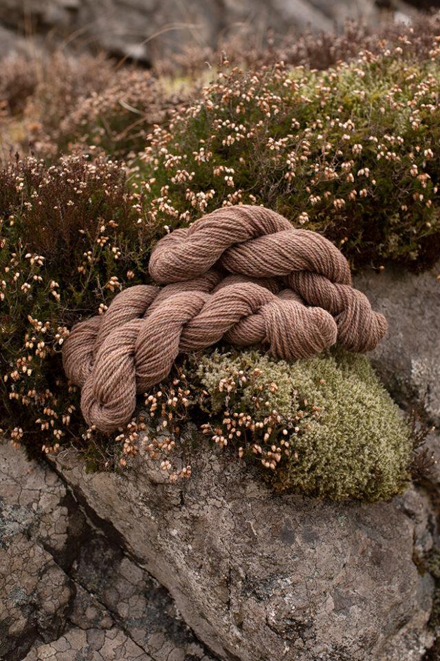 Alice Starmore 2 Ply Hebridean hand knitting yarn in Fulmar