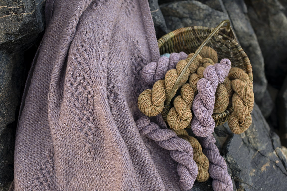 Dunadd patterncard kit design by Alice Starmore in Hebridean 3 Ply yarn
