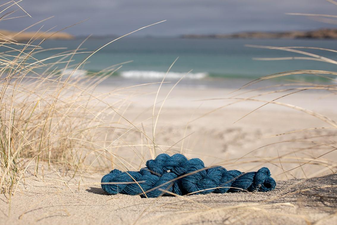 Alice Starmore 2 Ply Hebridean hand knitting yarn in Summer Tide