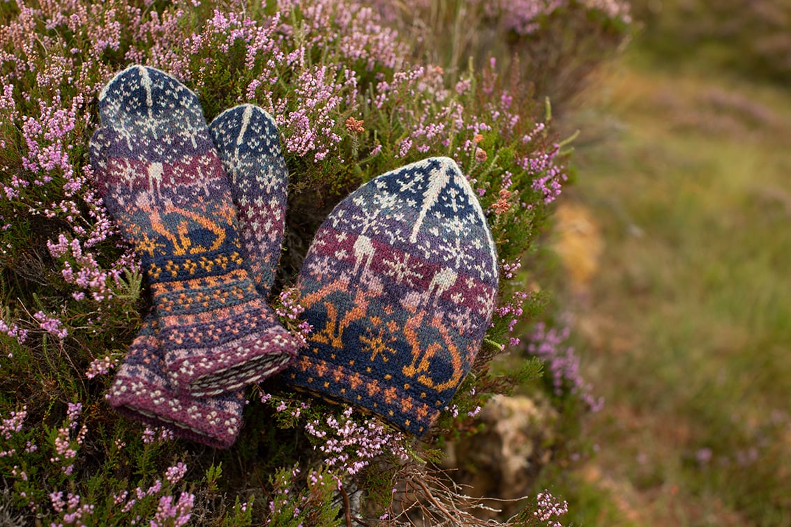 Witch Hare patterncard kit design by Alice and Jade Starmore in Hebridean 2 Ply yarn