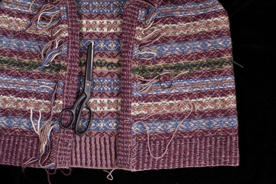 Peigi Vest patterncard kit design by Alice Starmore in Hebridean 2 Ply yarn