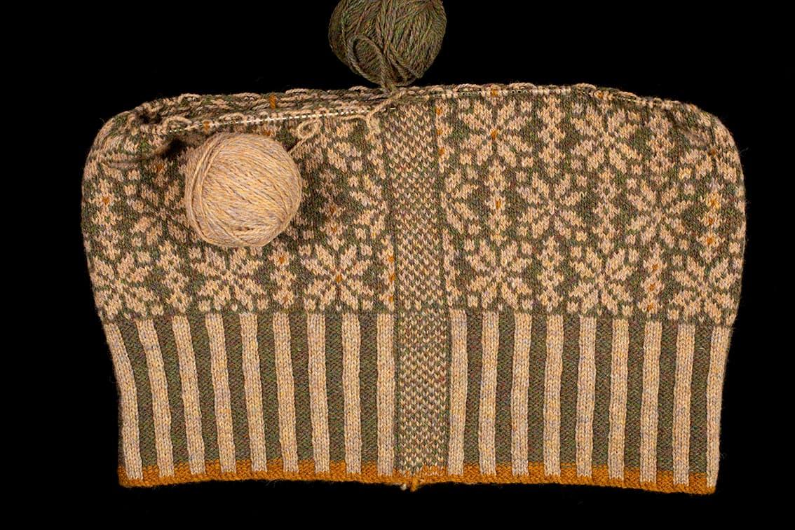 Polaris patterncard kit design by Alice Starmore in Hebridean 2 Ply yarn